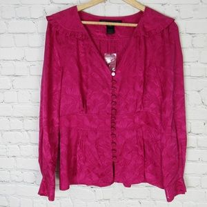 Marc By Marc Jacobs Blouse Shirt Top Womens 10